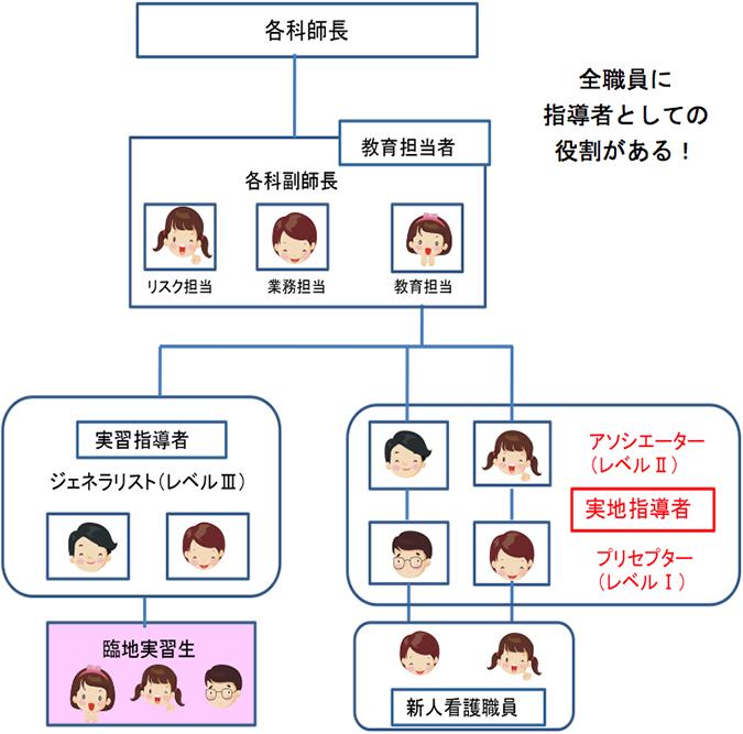 病棟における新人看護師育成の概念図